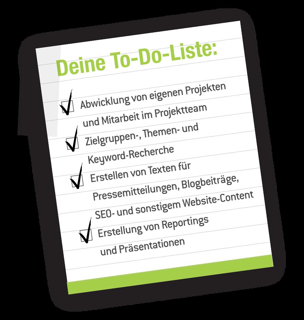 Aufgabenbereiche Praktikant Content-Marketing Dortmund