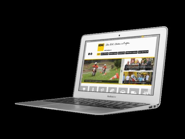 Website für den ADAC Westfalen