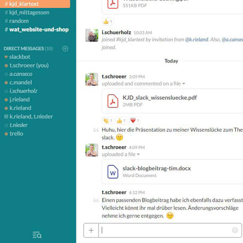 So funktioniert der Team-Chat mit slack