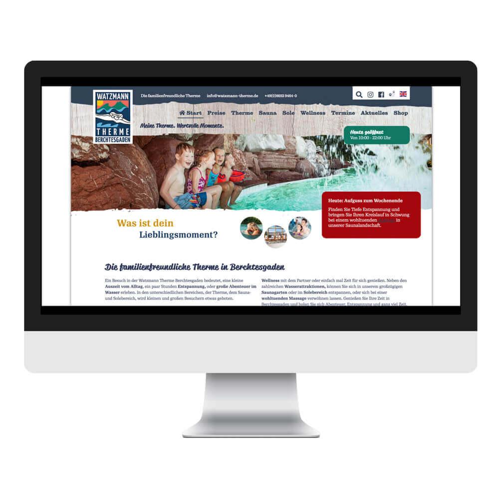 Die neue Website der Watzmann Therme mit TYPO3