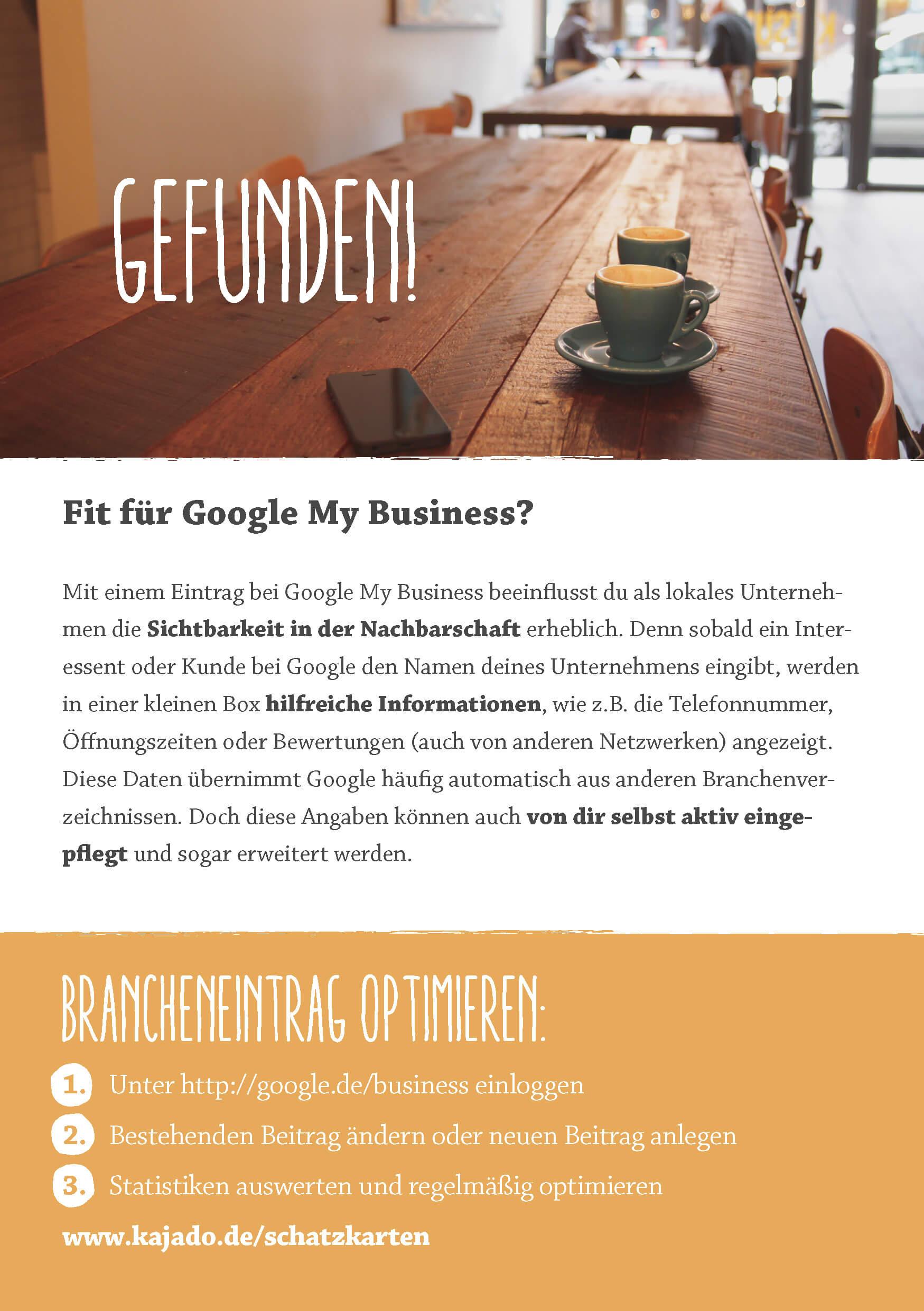 Schatzkarte Google My Business