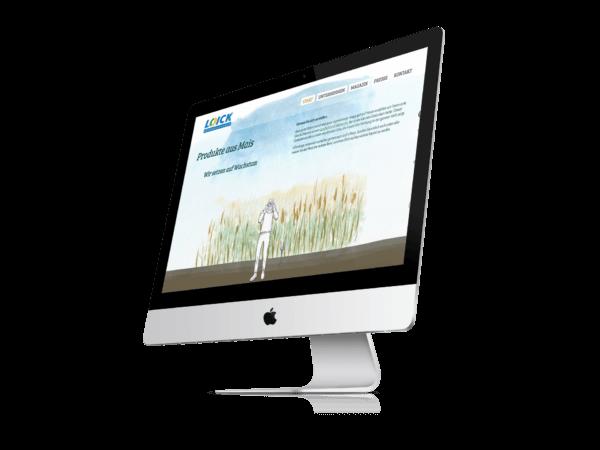 Webseite der Loick AG