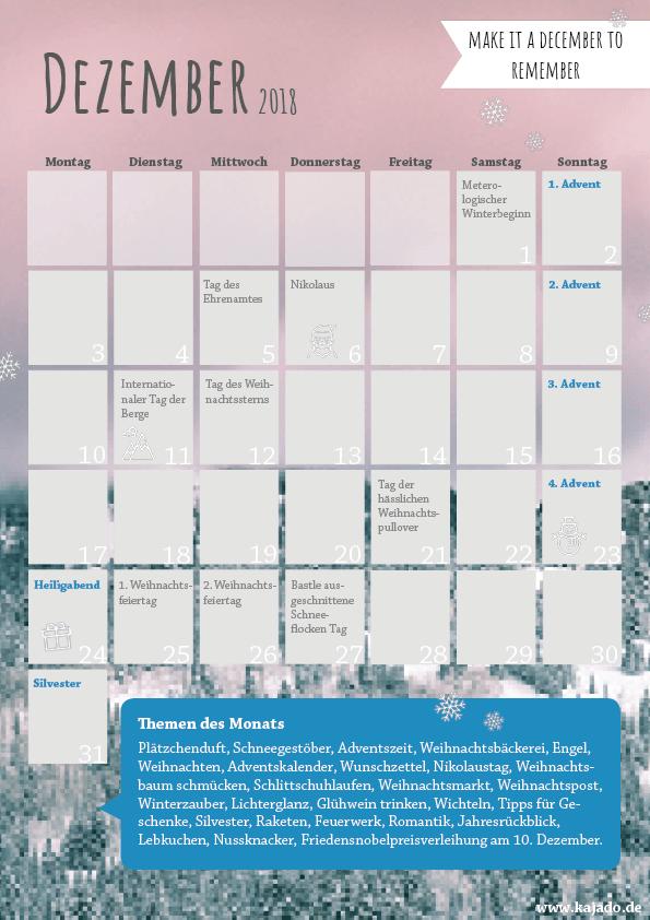 Content Planer - Ideen für Ihren Redaktionsplan im Dezember