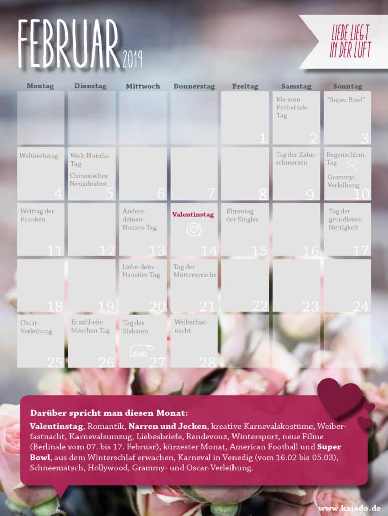 Content Ideen für Ihren Redaktionsplan im Februar 2019