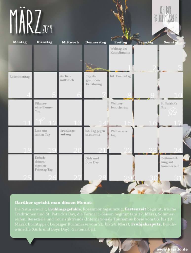 Content Planer März 2019 zum kostenlosen Download