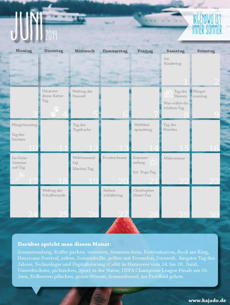 Content Ideen für Ihren Redaktionsplan im Juni 2019