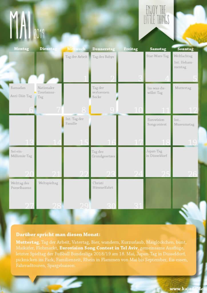Content Ideen für Ihren Redaktionsplan im Mai 2019