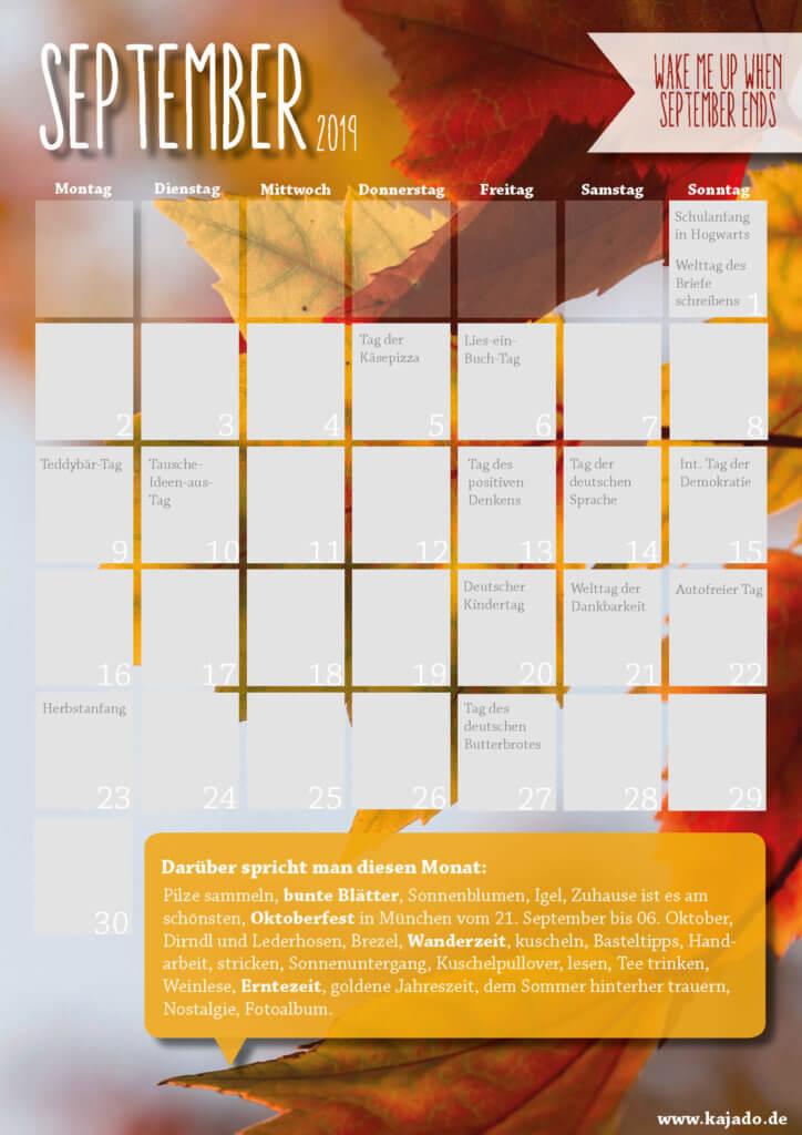 Content Ideen für Ihren Redaktionsplan im September 2019